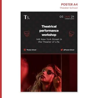 Theater school sjabloon poster