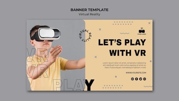 Thema van de virtuele realiteit banner