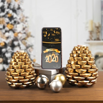 Thematische kaarsen voor nieuwjaarsnacht