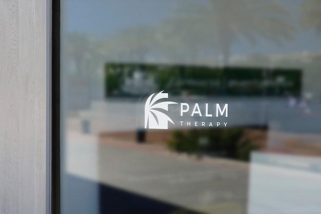 Therapie spa venster teken logo mockup
