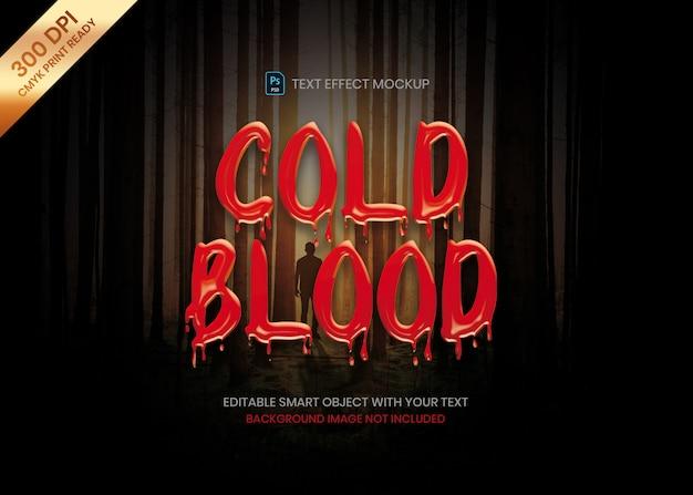 Thriller horror effetto di fusione sanguinosa del testo