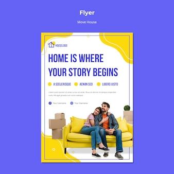 Thuis is waar het verhaal begint flyer