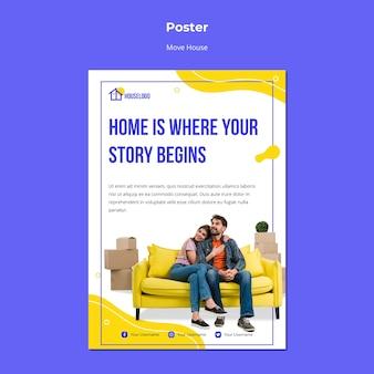 Thuis is waar het verhaal begint poster