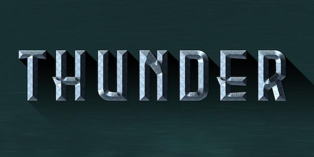 Thunder-tekststijleffect