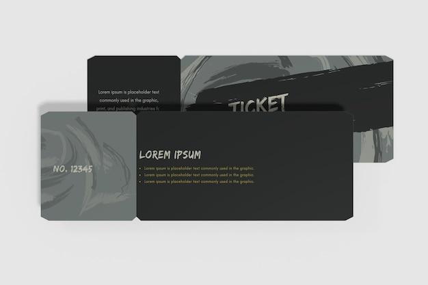 Ticket mockup ontwerp