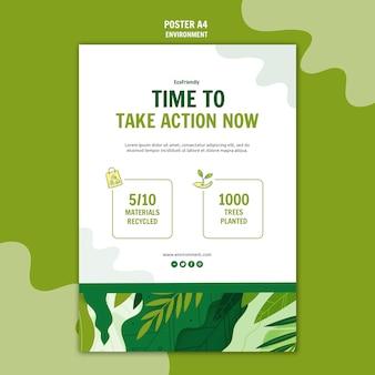 Tijd om actie-poster te nemen