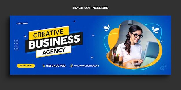 Tijdlijn voor digitale zakelijke marketingpromotie facebook en sociale media voorbladsjabloon