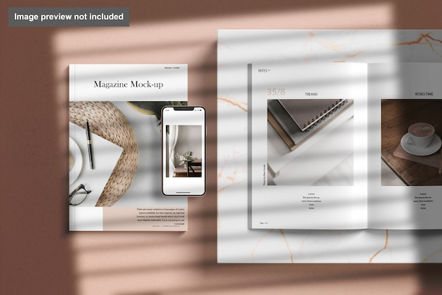 Tijdschrift met telefoonmodel