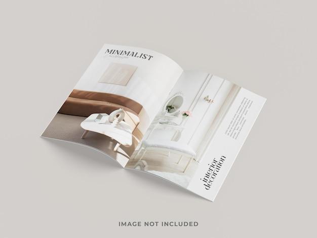 Tijdschrift of brochure mockup bovenaanzicht