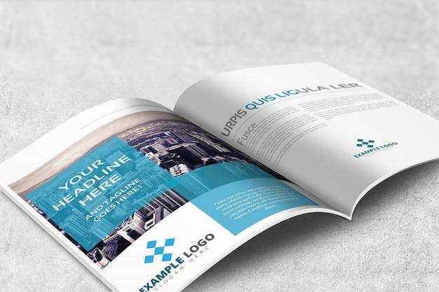 Tijdschrift of brochure mockup