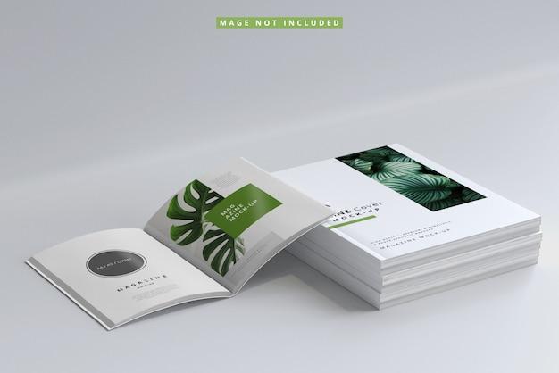 Tijdschriftomslag en binnenpagina's mockups