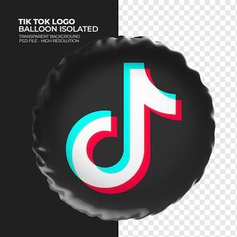 Tik tok logo 3d-ballon