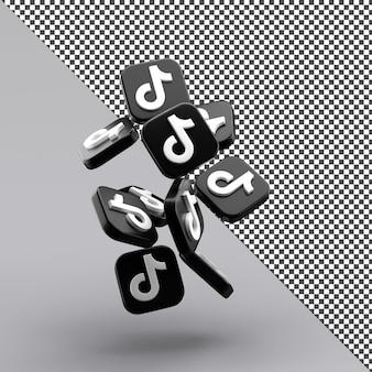 Tiktok 3d geïsoleerd pictogramontwerp