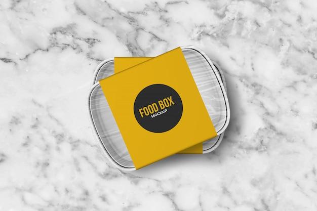 Tilted food takeaway boxen mockup