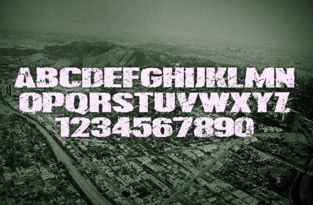 Tipografía grunge moderno.