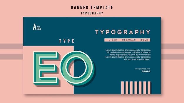 Tipografía de plantilla de banner