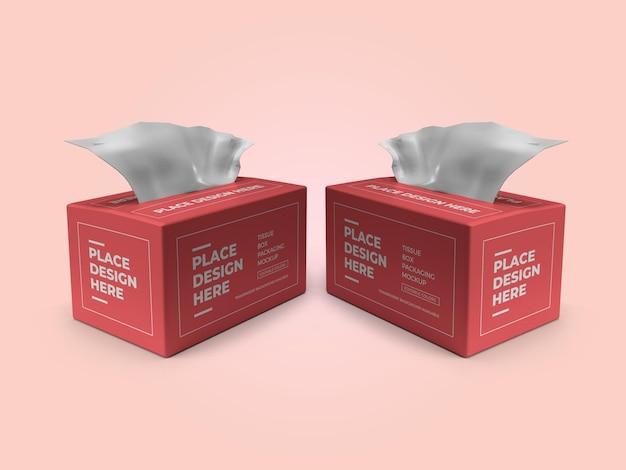 Tissue box verpakking 3d mockup sjabloon psd