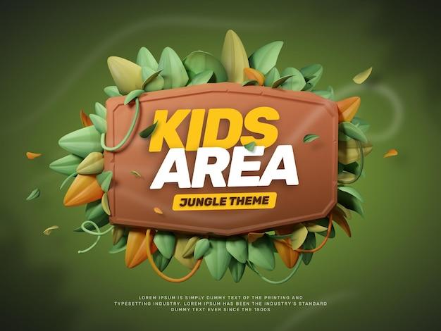 Titelgenerator met 3d jungle park-thema