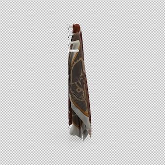 Toallas 3d renderizadas aisladas