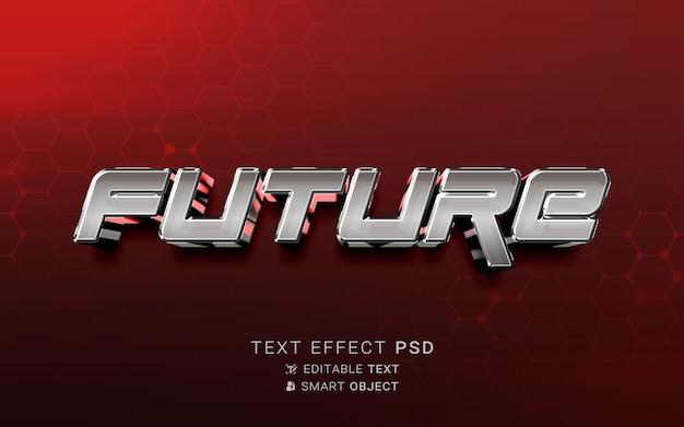 Toekomstig ontwerp met teksteffect