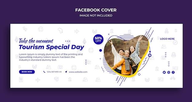 Toerisme speciale dag facebook-tijdlijndekking en webbannersjabloon