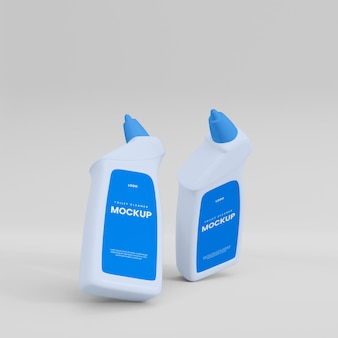 Toiletreiniger fles mocup