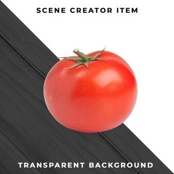 Tomaat die met het knippen van weg wordt geïsoleerd.