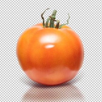 Tomaat op geïsoleerde achtergrond