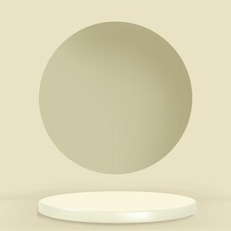 Toon podium 3d-rendering minimale groene productachtergrond