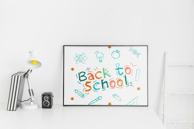 Torna a scuola pubblicità design mockup
