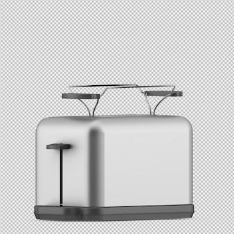 Tostadora isométrica render 3d