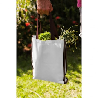 Tote bag mock up di progettazione