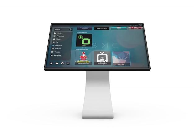 Touchscreen informatiebord mockup
