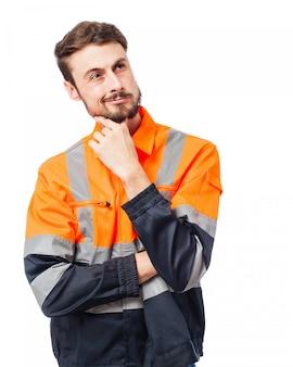 Trabajador sonriendo
