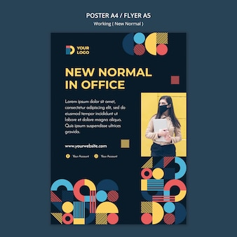 Trabajando en la nueva plantilla de póster de forma normal con foto