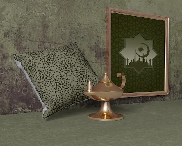Traditionele ramadan samenstelling met frame