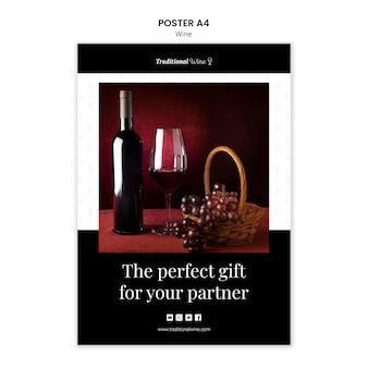 Traditionele wijn posterontwerp