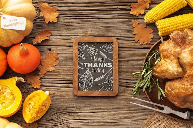 Tradizione cibo del giorno del ringraziamento per festeggiare