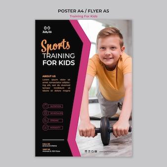Training voor kinderen posterontwerp