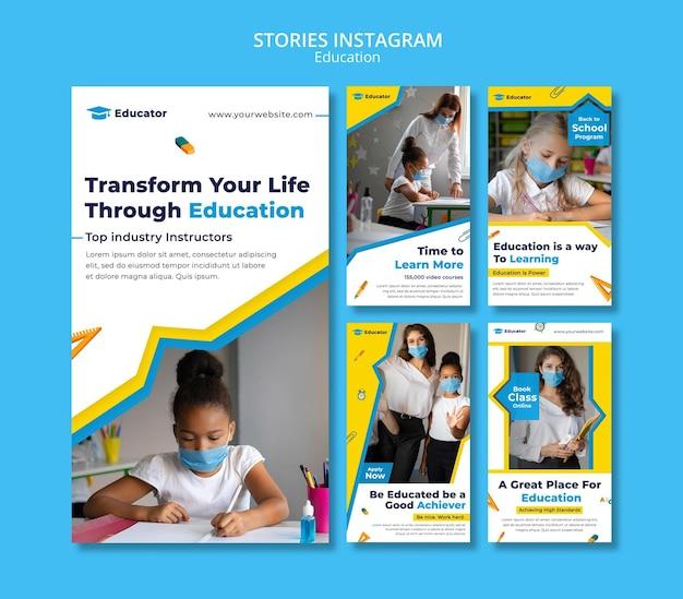 Transfórmate a través de la educación en las historias de instagram