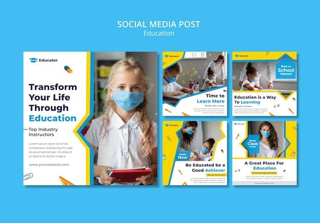 Transformeer door middel van onderwijs social media post
