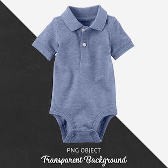 Transparant blauw polo t-shirt jumpsuit, bodysuit voor baby of kinderen