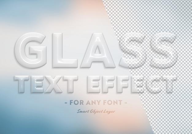 Transparant glas teksteffect