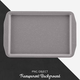 Transparant grijs bakblik