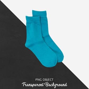 Transparante blauwe sokken