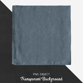 Transparante donkerblauwe linnen zakdoek