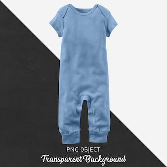 Transparante lichtblauwe baby-jumpsuit of bodysuit
