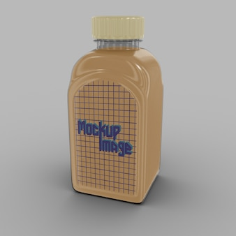 Transparante vierkante fles mockup geïsoleerd