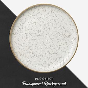 Transparante witte keramische plaat met patroon