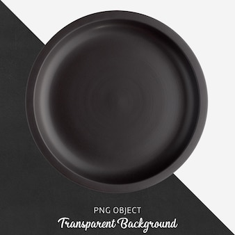 Transparante zwarte keramische of porseleinen ronde plaat
